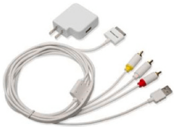 iPad to TV composite cable system