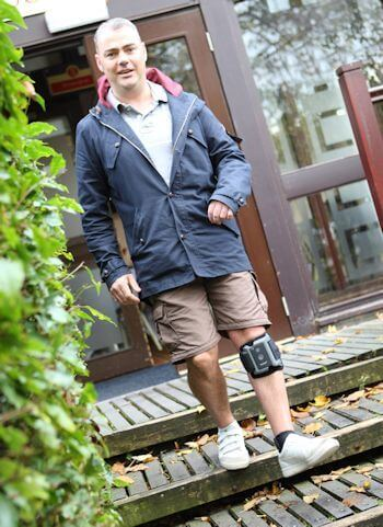 Justin Ashton has regained his mobility following a stroke after being one of the first in the UK to be fitted with a new and advanced Functional Electrical Stimulation (FES) device from Ottobock.