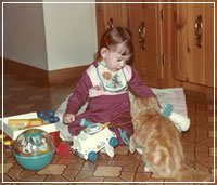 Karen with Cat at 13Months