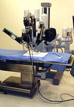 Laparoscopic da Vinci surgical robot
