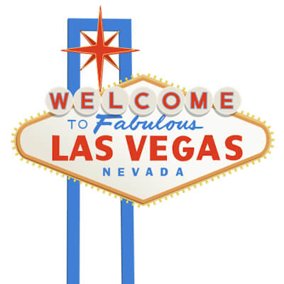 Graphic design of the famous Las Vegas Sign.