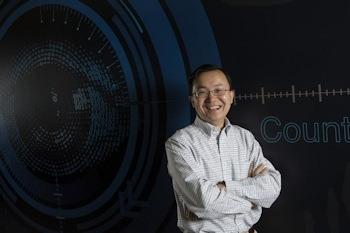 Binghamton University Professor of Computer Science Lijun Yin and his team created a new framework that interprets mouth gestures as a medium for interaction within virtual reality in real-time. Photo Credit: Binghamton University, State University of New York