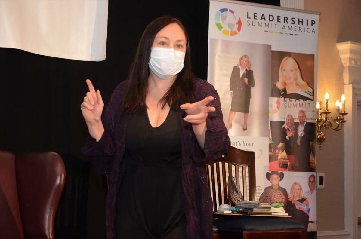 Dr. Lynette Louise at Leadership Summit, 2020