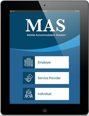 The Mobile Accommodation Solution (MAS) App. Picture Credit IBM.