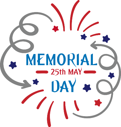 Memorial Day 25th May, 2020. The holiday is now observed annually on the last Monday of May.