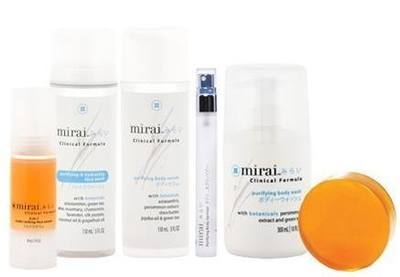 Mirai products eliminate odors originating from the armpit, groin, feet and nonenal.