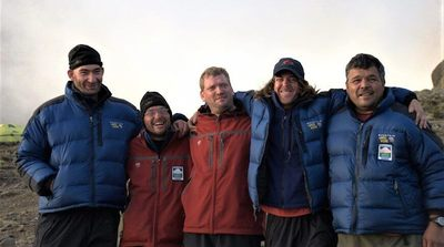 Climbing Kilimanjaro together brings a sense of community among the athletes and staff. Photograph by Arthur Chivvis.