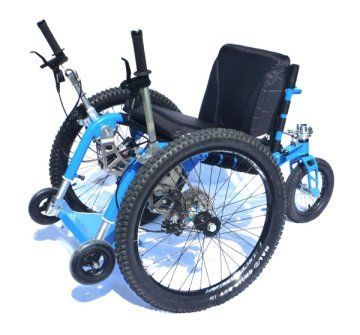 The Mountain Trike is an example of an all terrain manual wheelchair.
