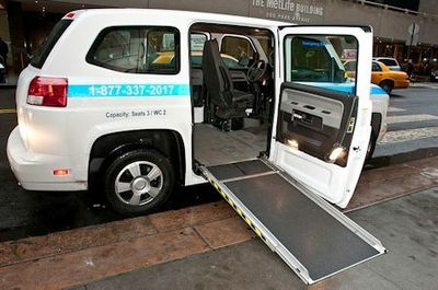 MV-1 vans are the first purpose-built vehicle for both ambulatory and mobility impaired customers to meet ADA vehicle guidelines. Photo Credit: Metropolitan Transportation Authority of the State of New York.