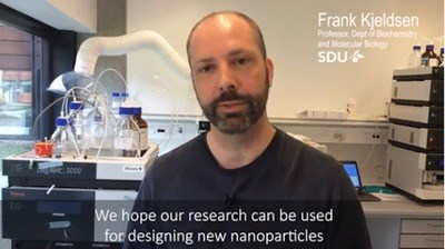 Professor Frank Kjeldsen, University of Southern Denmark, talks about his research into, and concern about metal nano particles.  - Film Credit: University of Southern Denmark.