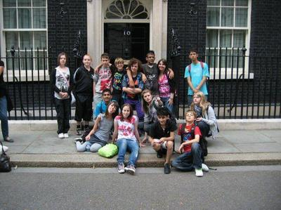 Teenagers at Number 10 Downing Street