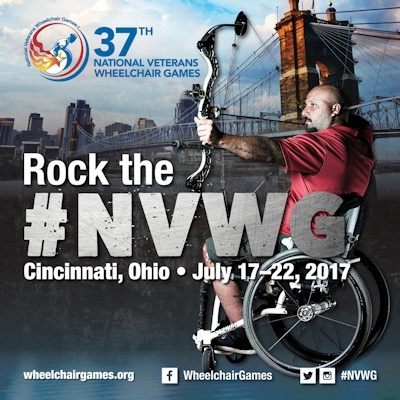 The National Veterans Wheelchair Games,in its 37th year, is co-hosted by Paralyzed Veterans of America and the Department of Veterans Affairs. This year's events take place in Cincinnati, July 17-22. Follow all on social media with the #NVWG hashtag! For more information, visit wheelchairgames.org