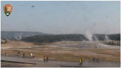 Credit: The live cam of Old Faithful Geyser view is made possible by the Eyes on Yellowstone program funded by Canon USA, Inc. through a generous grant to Yellowstone Forever.