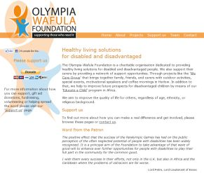 Olympia Wafula Foundation Website Screenshot