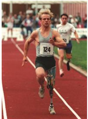 Otto Bock Knee exarticulation prosthesis in Paralympic Contest