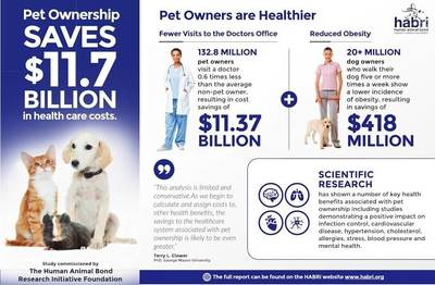 Infographic outlines some of the benefits of pet ownership