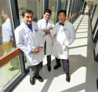 While it seems like restoring blood flow to an injured leg would be a good thing, it can actually cause additional damage that hinders recovery, according to research by Drs. Babak Baban (from left), Mohamad Masoumy, and Jack Yu, all of Georgia Regents University. Photo Credit: Phil Jones, GRU Senior Photographer