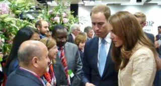 """Mr. Hassan Ali Bin Ali discusses """"One Billion Strong"""" with HRH Prince William and Dutchess of Cambridge Kate Middleton."""