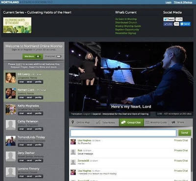 Northland online church environment screenshot