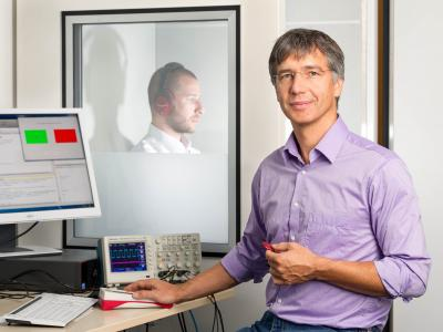 Researchers at the Technische Universitaet Muenchen (TUM) have developed computer models of the neuronal information processing in the brain stem. This model will allow further development of coding strategies to improve future cochlear implants. Photo: Astrid Eckert