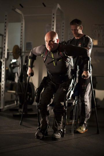 This is Mark Pollock with trainer Simon O'Donnell. Courtesy of Mark Pollock