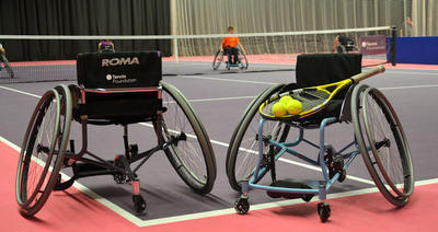 The Tennis Foundation and ROMA Sport tackle one of the key barriers to participation in wheelchair tennis with the launch of a new specially designed, affordable chair. Photo Credit: Tennis Foundation