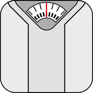 Clipart image of bathroom weighing scale.