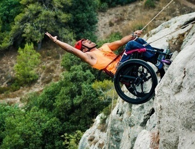 Rock climbing no obstacle for softwheel