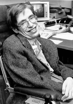 Stephen Hawking in his earlier years