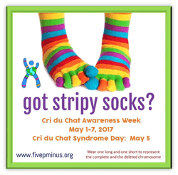 Striped Socks Campaign for Cri du Chat Syndrome Awareness.
