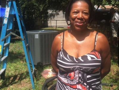 St. Petersburg homeowner Sylvia Thompson used a SELF loan to finance an energy-efficient air conditioner, which improved living conditions for her disabled son, who has cerebral palsy and epilepsy.