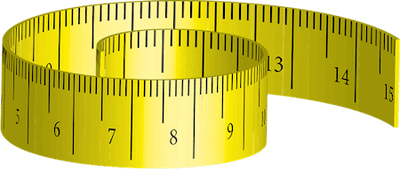 Yellow measuring tape.
