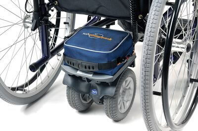 Close up picture of the electric Wheelchair Powerpack PLUS