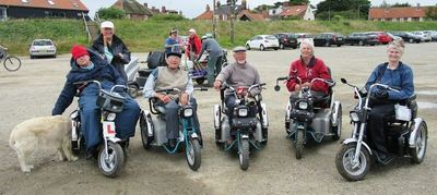 Disabled Ramblers on mobility scooters