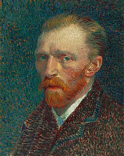 Van Gogh Self-Portrait, 1887, Art Institute of Chicago.