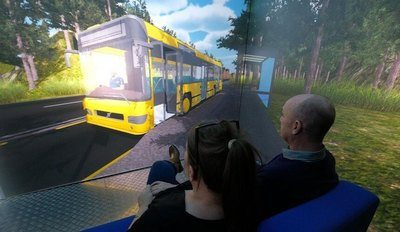The Blue Room scene can be adapted for each individual childs fear - here we see learning how to cope with getting on a bus. Image Credit: Newcastle University, UK and Third Eye Technologies Limited