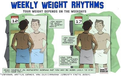 This is an illustration of previous findings about weight by the research team. Picture Credit: Daniel Miller.