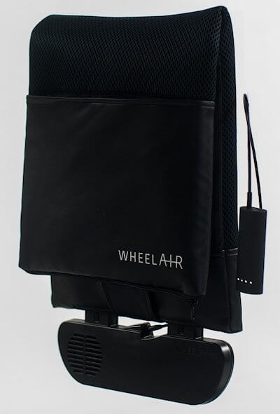 wheelAIR cooling system for manual wheelchair users.