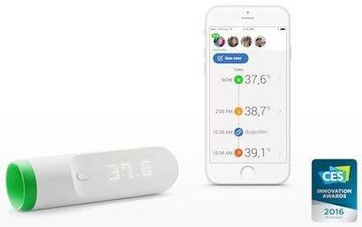 Withings Thermo Wi-Fi-connected temporal artery thermometer
