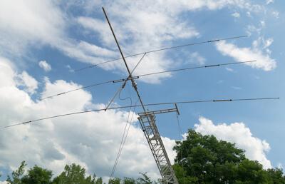 Amateur radio Yagi beam antenna.