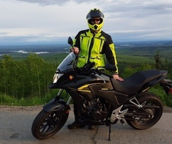 Zachary Sherman and his Honda CB500X - Picture Credit: The Soldiers Project